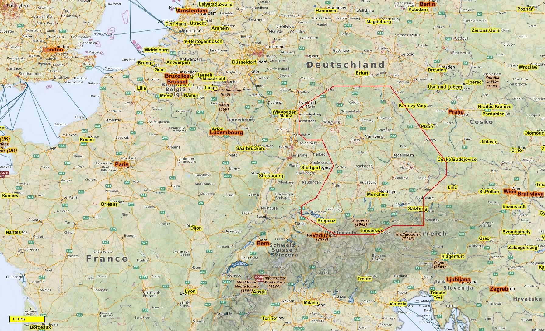 Deutschland Radkarten und Wanderkarten download für Android ...