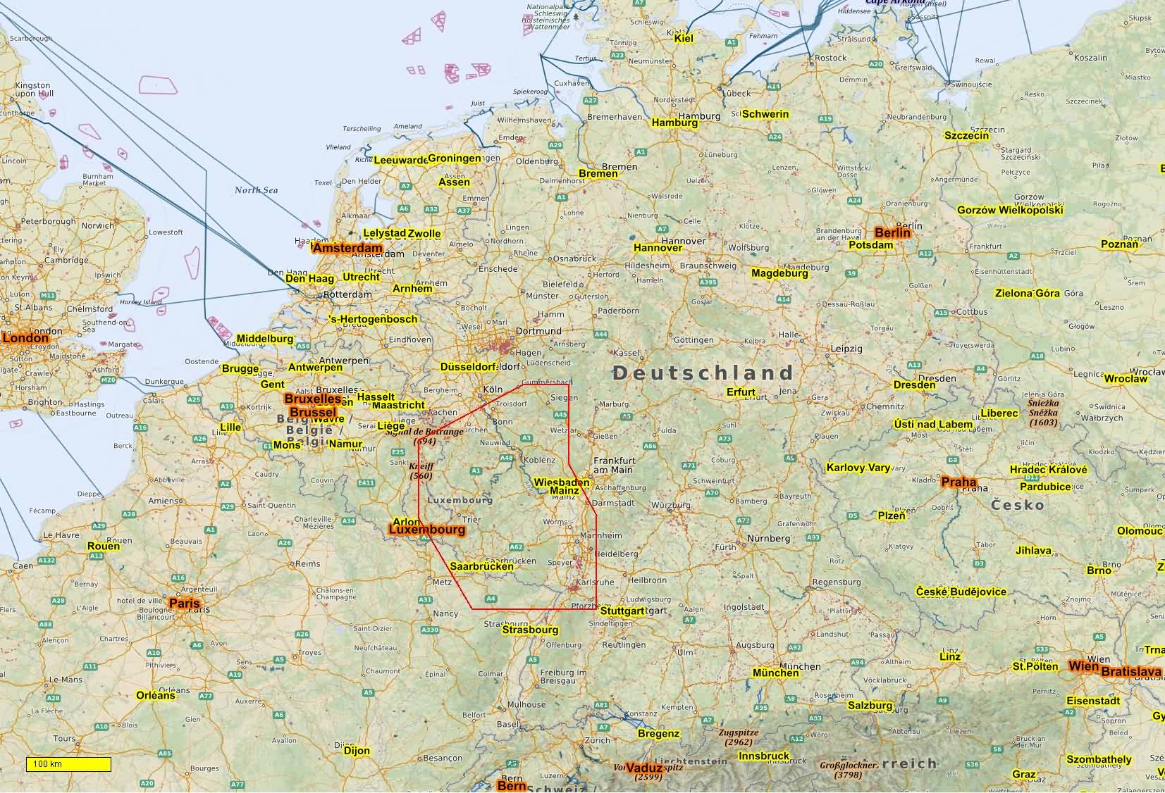 German cycle and hiking topo maps download for Android Smartphones