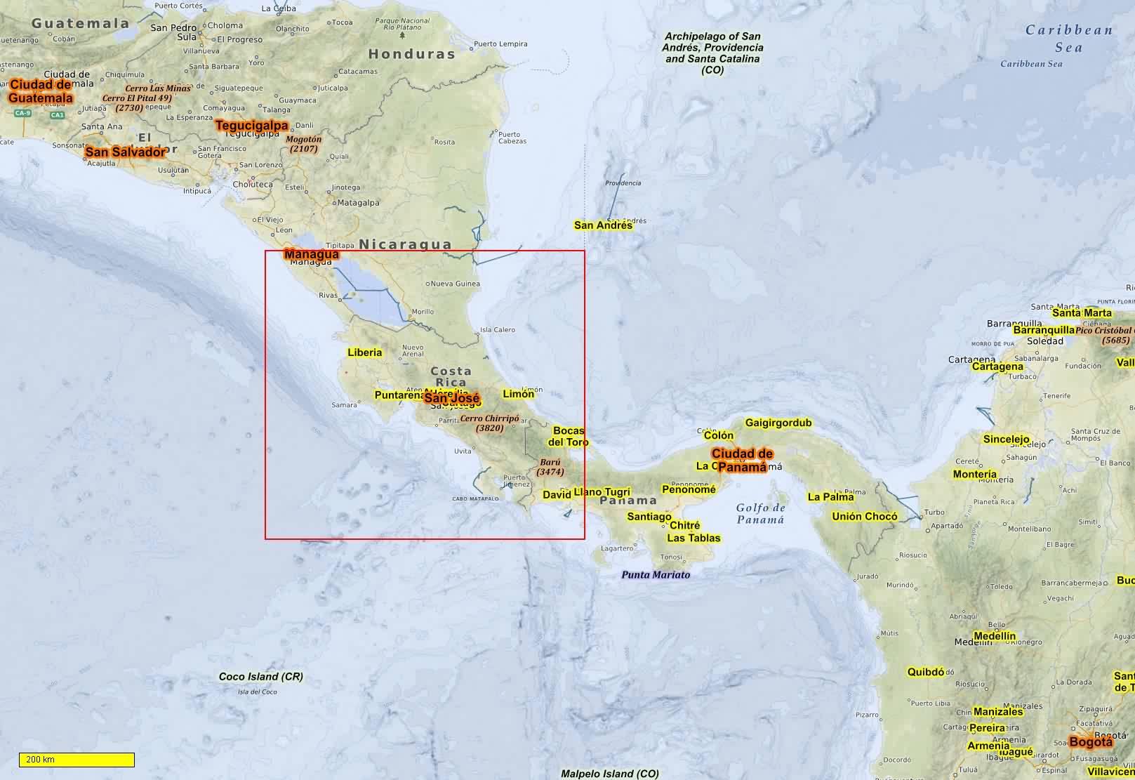 Costa Rica Karte Mittelamerika.Süd Und Mittelamerika Radkarten Und Wanderkarten Download Für