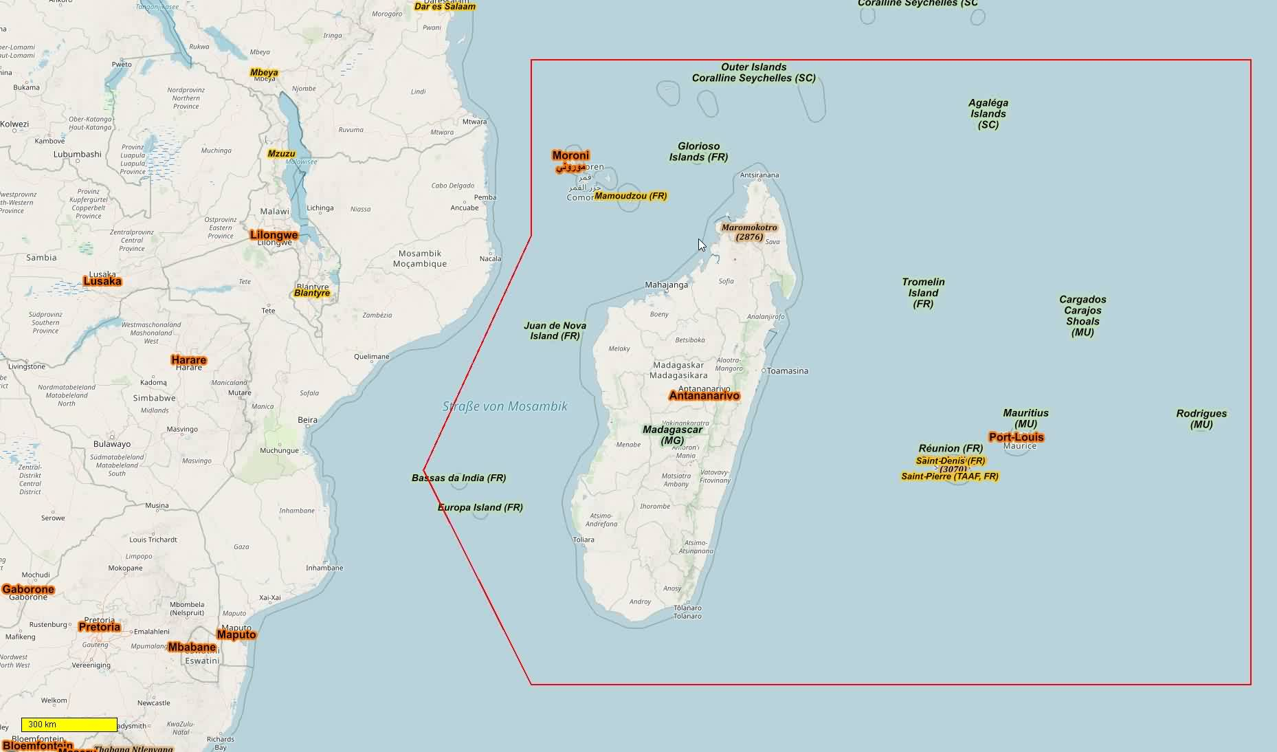 Topographic Map Of Madagascar.Africa Cycle And Hiking Maps Download For Android Smartphones