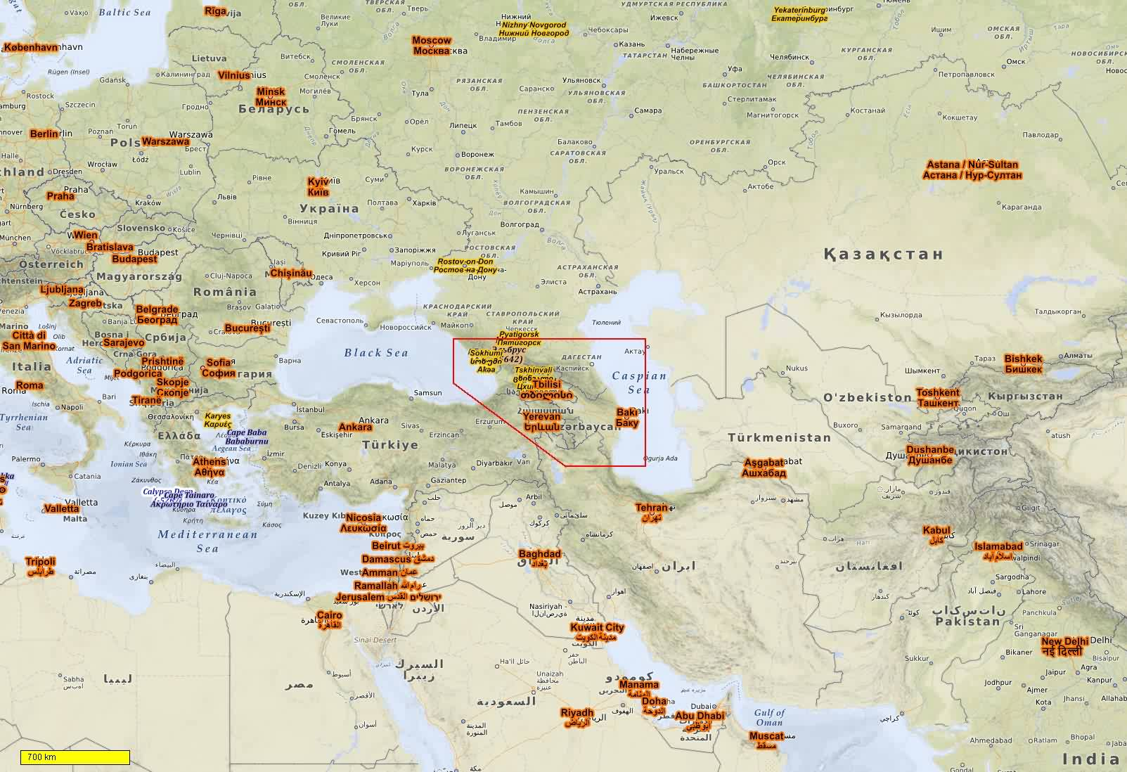 Asia MiddleEast Cycle And Hiking Maps Download For