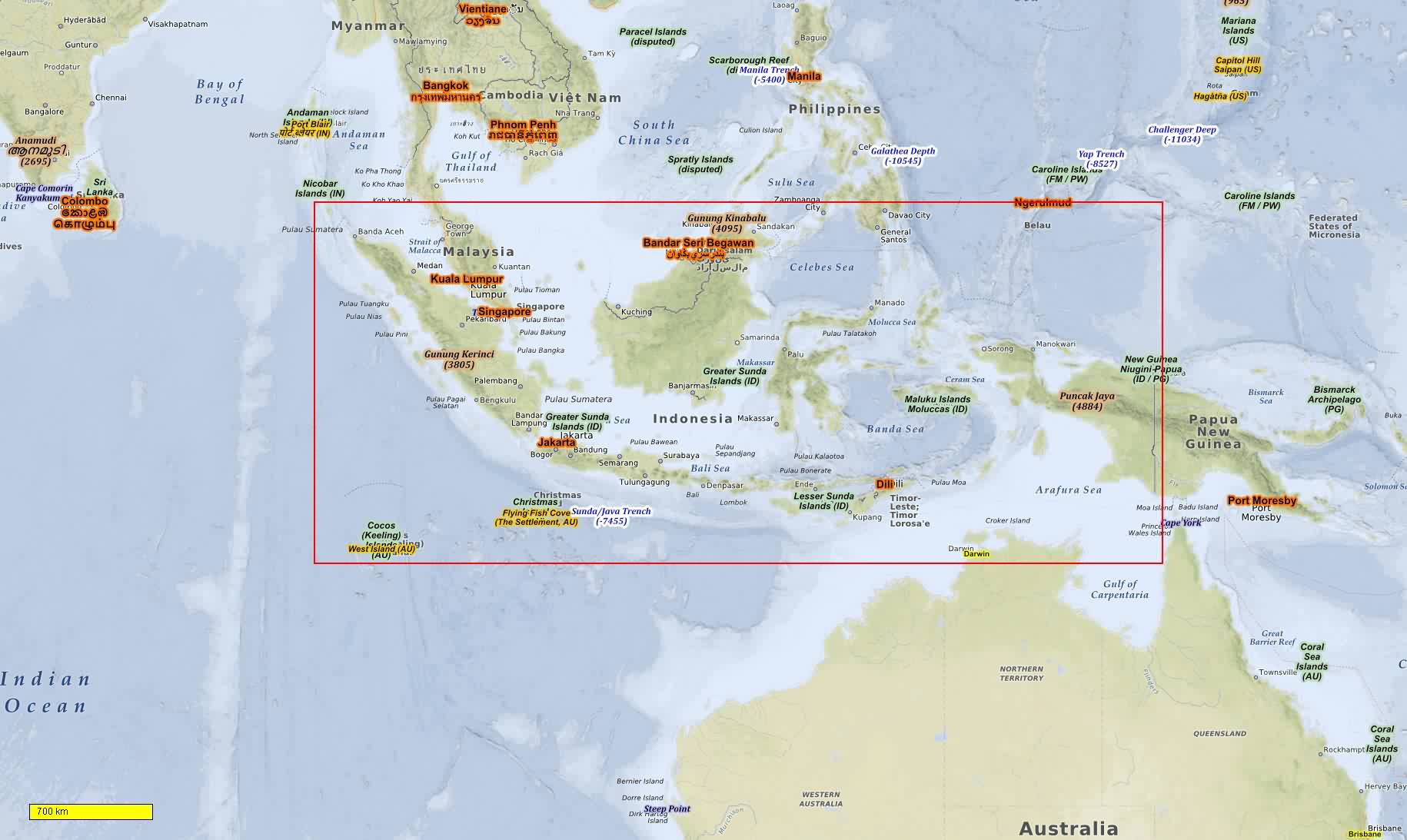 Map Of Asia Indonesia.Asia Middleeast Cycle And Hiking Maps Download For Android Smartphones