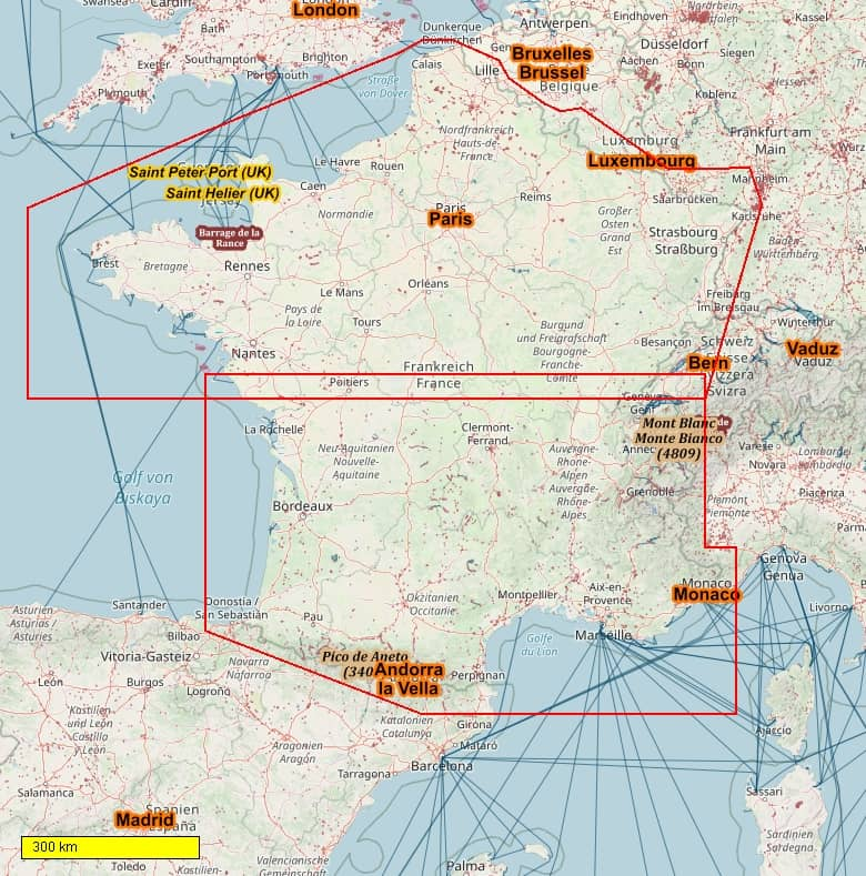 Europa Radkarten und Wanderkarten download für Android Smartphones