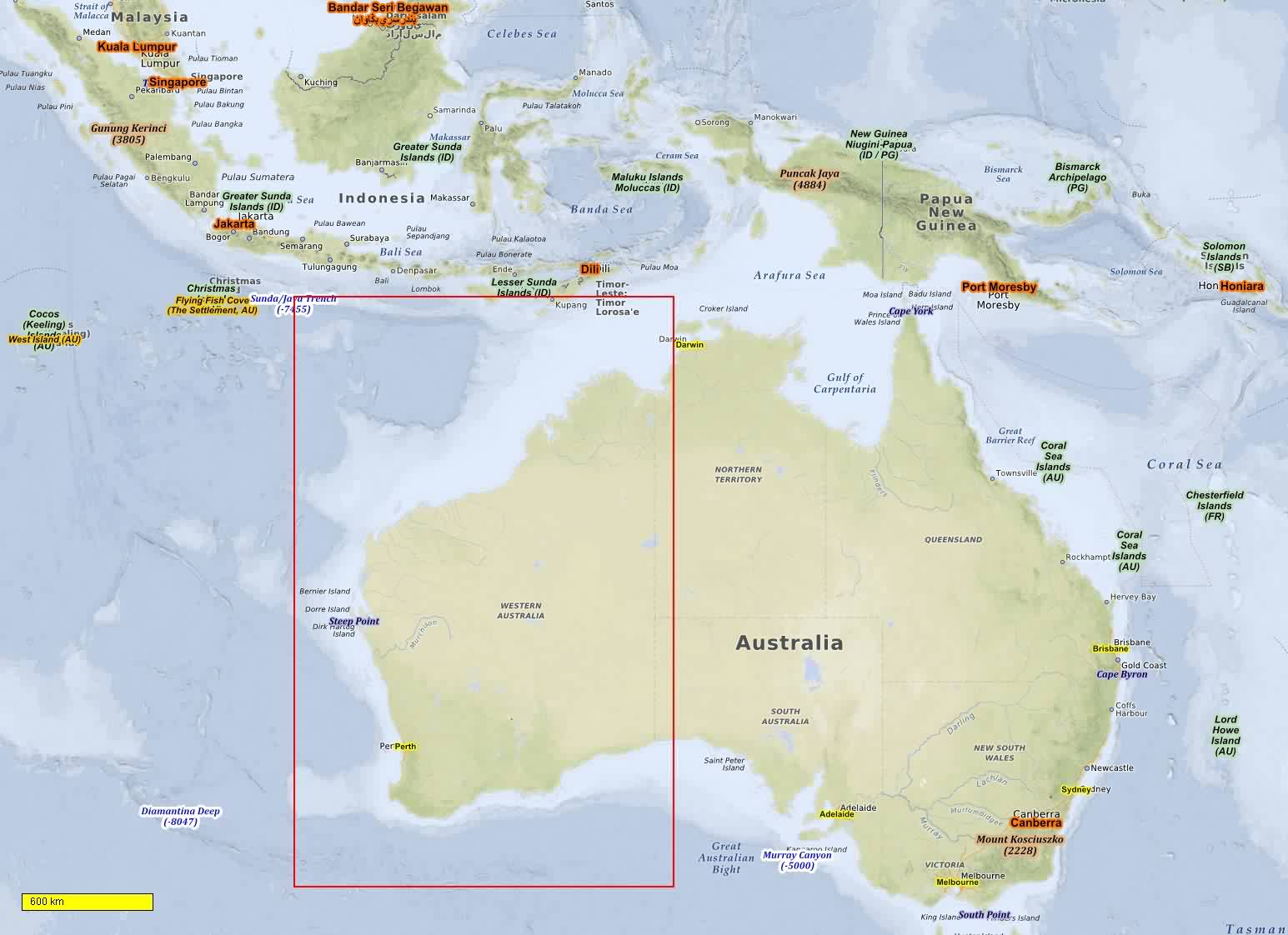 Australia new zealand oceania cycle and hiking maps download for coverage sciox Gallery