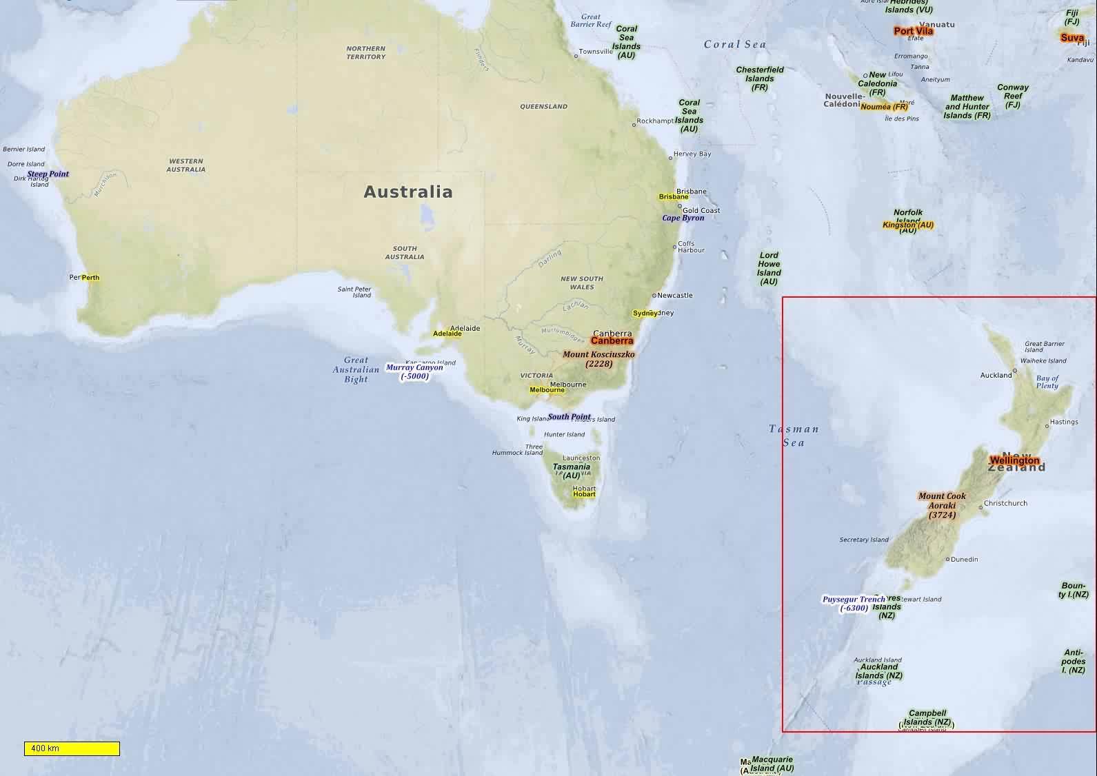 Australien, Neuseeland Radkarten und Wanderkarten download für ...