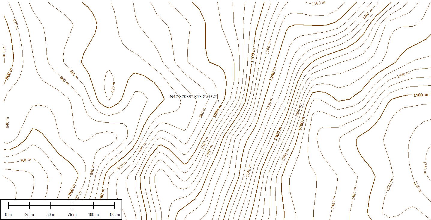 Höhenlinien-Test-DGM