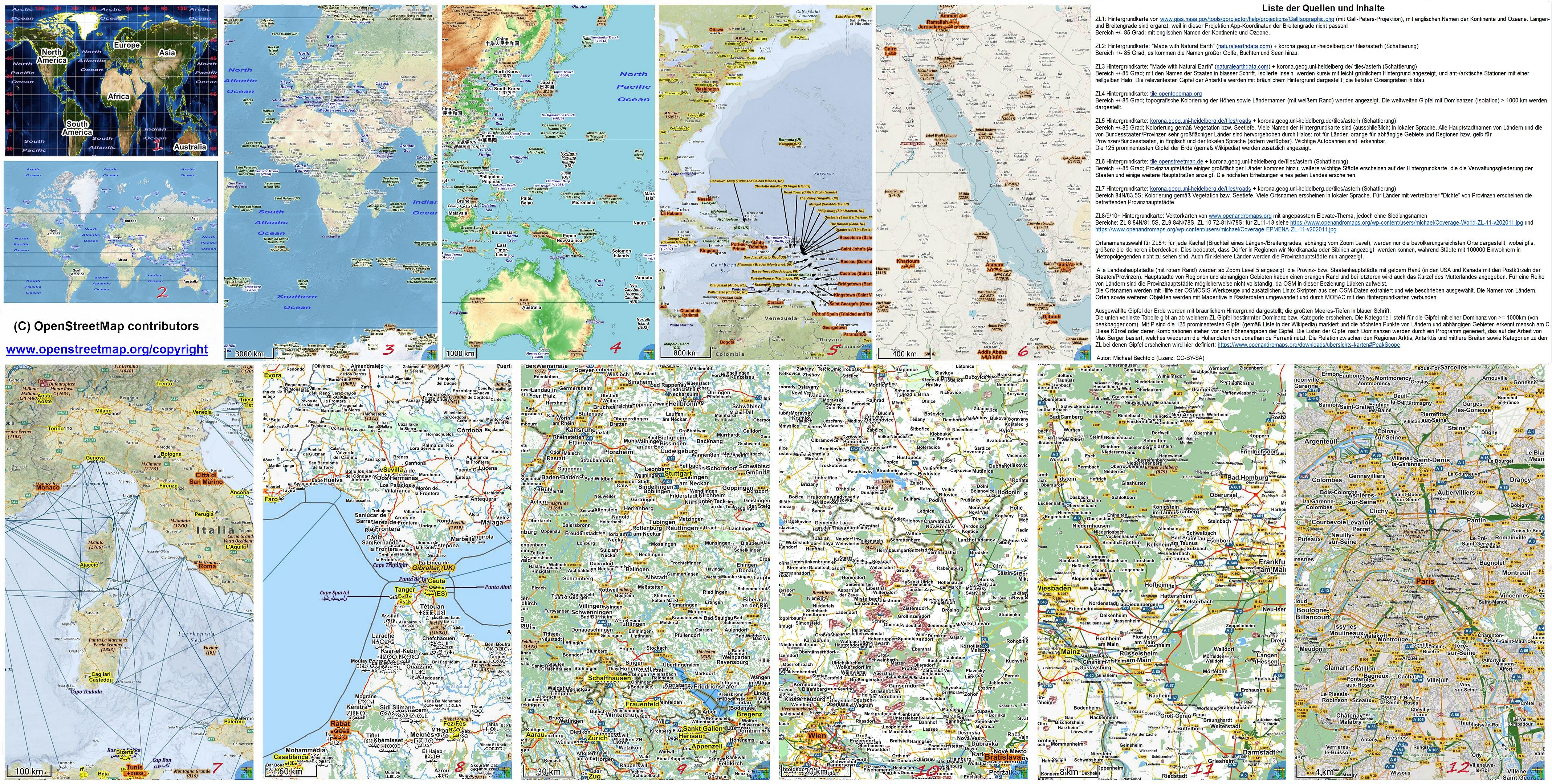 Übersichts-Karten - openandromaps